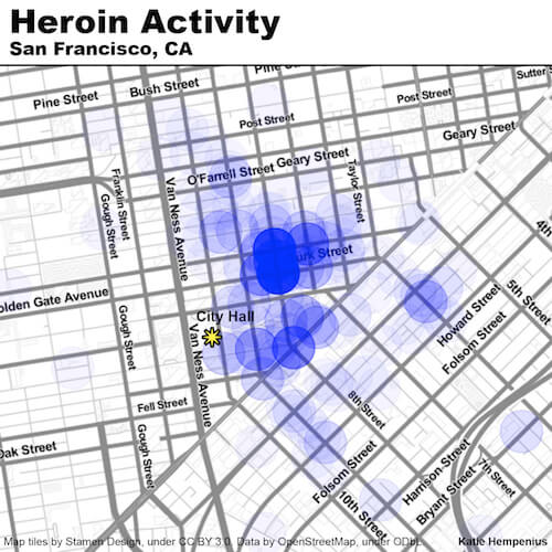 Heroin Activity in San Francisco