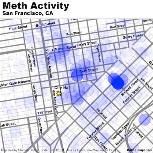 Meth Activity in San Francisco