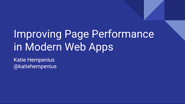 Improving Page Performance in Modern Web Apps